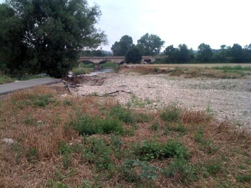 Bei Bad Koestritz: Das war mal der Elsterradweg. Bis zum Hochwasser.