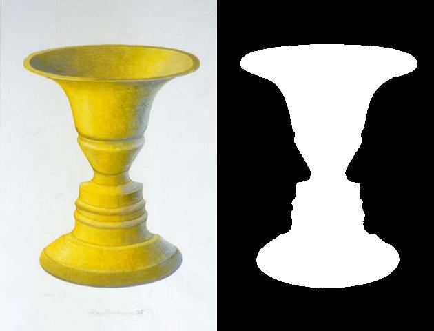 Kippfigur Rubinsche Vase